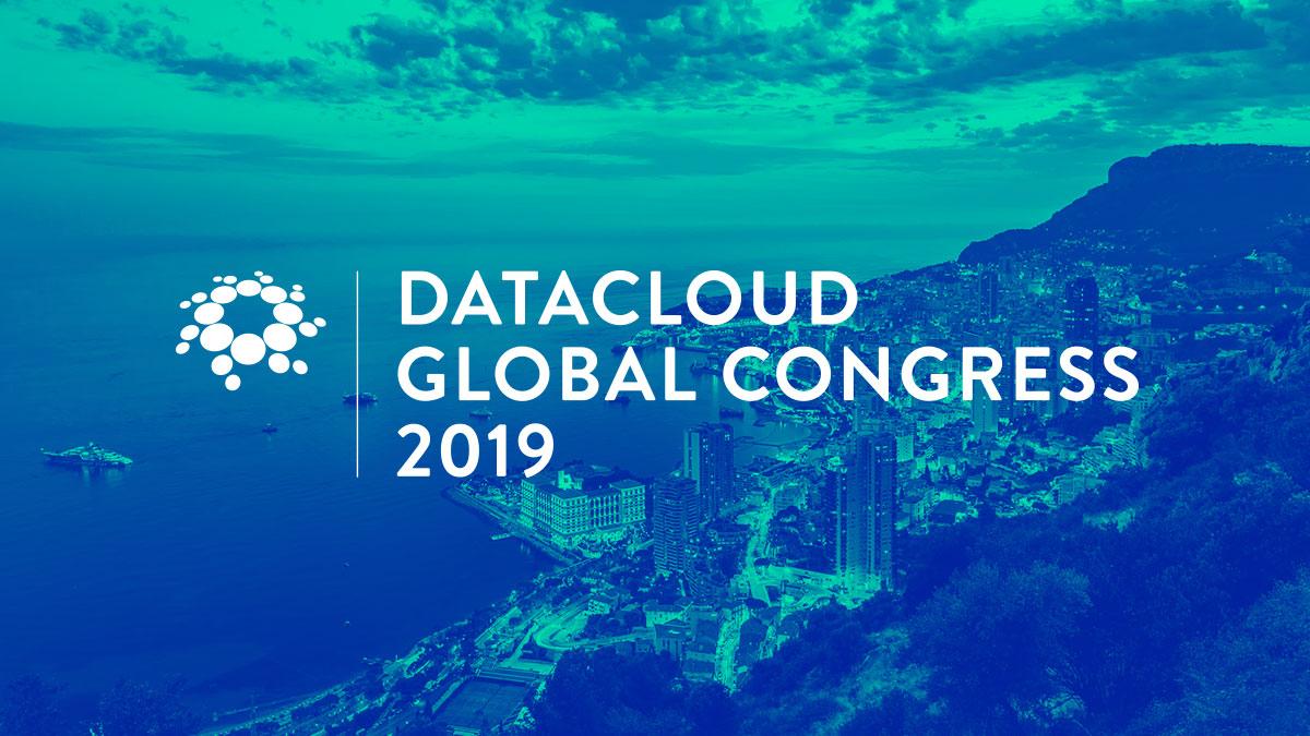 Conférence au congrès mondial Datacloud, Monaco